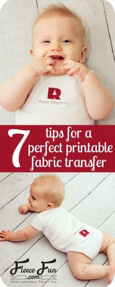 7 tips for a perfect printable fabric transfer by  www.fleecefun.com These 7 tips help you get the perfect printable fabric transfer! #printable #cricut #transfer