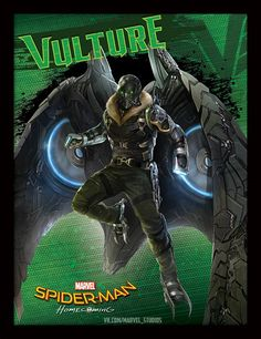 A batch of Spider-Man: Homecoming promotional art has swung online, giving us new looks at Spidey in a variety of different poses, as well as a cool new glimpse of the villainous Vulture.