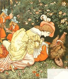 """Иллюстратор Walter Crane.Сказка """"Красавица и чудовище"""".Автор Leprince de Beaumont.Страна Великобритания.Год издания 1874.Издательство Bodley Head......................."""