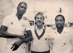 Holy Trinity: Joel Garner, Ian Botham and Viv Richards formed county cricket's greatest line-up at Somerset CCC in the Viv Richards, Graeme Smith, Ian Botham, Kevin Pietersen, Cricket Coaching, Ricky Ponting, World Cricket, Test Cricket, British Sports