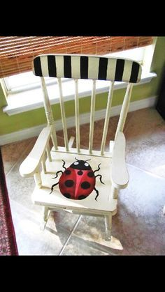 hand painted lady bug chairs - Google Search