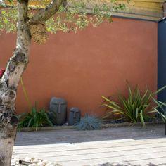 Exterior House Colors, Exterior Paint, Terracota, Colorful Garden, Terrace Garden, Outdoor Walls, Backyard Patio, Garden Inspiration, Home And Garden