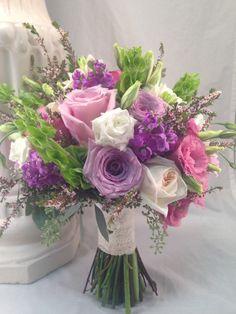 Lavender & Pink Bridal Bouquet