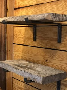 Reclaimed Wood Open or Floating Shelving