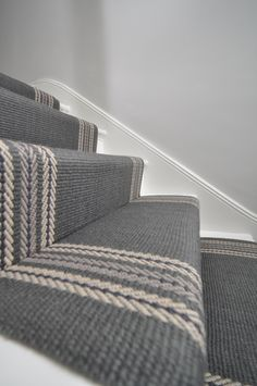 flatweave stair runners Off The Loom - Brampton 2 flatweave stair runners fitted in Richmond. Staircase Carpet Runner, Stair Carpet, Hall Carpet, Carpet Runners For Stairs, Victorian Hallway, Hallway Colours, Hallway Flooring, Hallway Inspiration, Staircase Makeover
