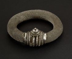 Like mesh. India | Silver bracelet from Rajasthan | ca. 1st of of the 20th century.