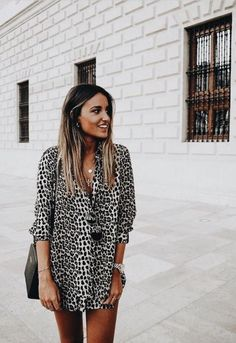 A complete guide on how to wear a mini skirt outfit 45 ~ Litledress All The Leopard Things To Buy Right Now Mode Outfits, Skirt Outfits, Trendy Outfits, Fashion Outfits, Fashion Tips, Fashion Quiz, Fashion Clothes, Spring Summer Fashion, Spring Outfits