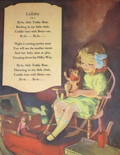 Vintage Illustration Childrens Print / Lullaby by APaperReverie, $10.00