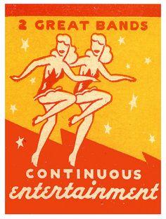 "mudwerks: "" Two Great Bands (by paul. Vintage Packaging, Vintage Labels, Vintage Ads, Vintage Prints, Vintage Posters, Illustrations Vintage, Retro Illustration, Vintage Magazine, Matchbox Art"
