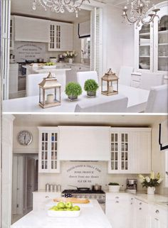 Kitchen/Dining Area at The London Home of Maria Myers Chic shack Creative director/ Founder  -published in waranda magazine -Poland