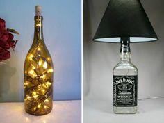 Para deixar o ambiente um romântico, essas luminárias feitas com garrafas de vidro são fáceis e baratas. Confira o passo-a-passo aqui.