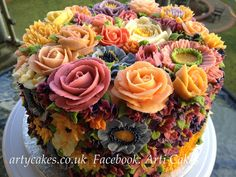 My friend, Maha's, beautiful cakes with BUTTERCREAM flowers.