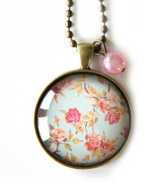Vintage Roses Pendant www.cloudninecreative.co.nz Rose Necklace, Vintage Roses, Pocket Watch, Polka Dots, Pendant, Classic, Creative, Pretty, Pink