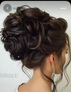 Messy hair Bridal Hair Updo, Wedding Hairstyles For Long Hair, Wedding Hair And Makeup, Formal Hairstyles, Bride Hairstyles, Hair Makeup, Hairstyle Ideas, Hair Wedding, Hairdos