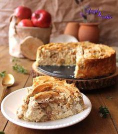 El aroma que desprende esta tarta cuando se está horneando es espectacular y no digamos ya su sabor. Los pasteles de manzana son un clá... Pie Recipes, Sweet Recipes, Cooking Recipes, Flan Cheesecake, No Bake Desserts, Delicious Desserts, No Bake Pies, Pie Cake, Let Them Eat Cake