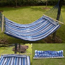 [Canony Bed DIY Ideas] Double Size Hammock Quilted Fabric With Pillow Spreader Bar Hang Bed Heavy Duty -- You can find more details by visiting the image link. Outdoor Hammock, Hammock Swing Chair, Hammock Stand, Swinging Chair, Outdoor Blanket, Outdoor Decor, Canopy Beds For Sale, Hammocks For Sale, Spreader Bar