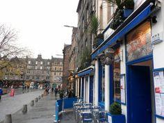 Grassmarket Edinburgh. Our tips for things to do in Edinburgh: http://www.europealacarte.co.uk/blog/2011/12/19/edinburgh-tips