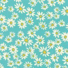 Moda Crystal Manning Painted Garden Floral Daisies For Days Aqua - Walmart.com