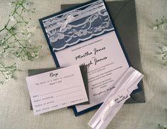 Silver Wedding Invitation https://www.etsy.com/listing/230236065/silver-wedding-invitation-white-lace?ref=shop_home_active_10