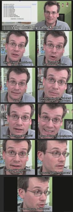 An Award Winning Author Explains Why Cats Lick You. | UnMotivating John Green is one of my favorite humans