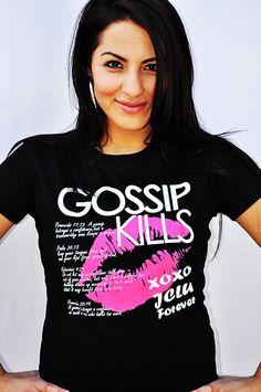 001-GOSSIP KILLS-Christian T-Shirt by JCLU Forever Christian t-shirts