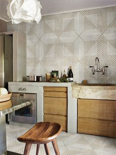 iGattipardi | porcelain tile kitchen wall color: gray