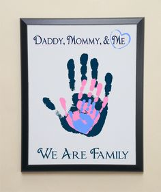 A personal favorite from my Etsy shop https://www.etsy.com/listing/222721146/parent-and-child-handprint-wall-plaque