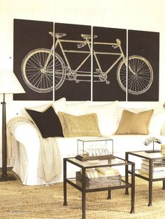 Bicycle art.  Not big on the brown but I like the concept.