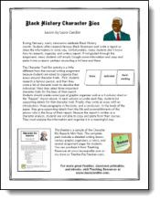 Black History Character Bio Reports freebie