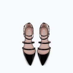 Image 5 of FLAT COURT SHOE WITH ANKLE STRAP from Zara