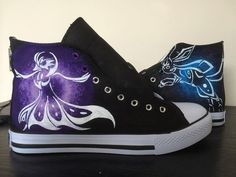 Custom Painted Hi Top Canvas Pokemon Shoes by Aurasoft on Etsy