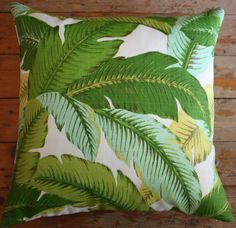 Banana+Leaf+On+Beach | Outdoor Banana Leaf Cushions via Etsy