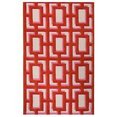 Kate Spade New York by Jaipur Gramercy Geo Screen Maraschino Hand Tufted Wool Rug #laylagrayce