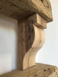Reclaimed Barn Wood Hand Hewn Corbels by TheWorkshopByVWF on Etsy https://www.etsy.com/listing/245572915/reclaimed-barn-wood-hand-hewn-corbels