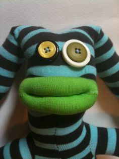 Clarabug's Creations - sock monsters for sale.