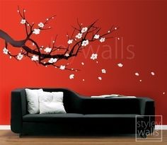 Wall Decal Cherry Blossom Sakura Tree LARGE  Vinyl by styleywalls, $67.00