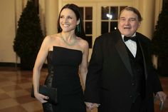 Daddy's girl. Julia Louis Dreyfus and her father.