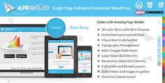 Themeforest App Mojo v2.5 – Responsive Single Page Promotion WordPress Theme