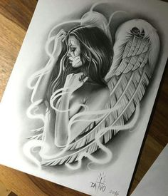 Angel Tattoo Designs Beautiful Lower Back Tattoos Skull, Leg Tattoos, Body Art Tattoos, Sleeve Tattoos, Small Tattoos, Celtic Tattoos, Animal Tattoos, Flower Tattoos, Wing Tattoo Designs
