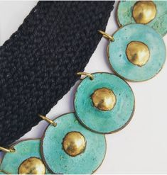 Brass turquoise hand made necklace 2018 Andrea Osses Brass, Turquoise, Drop Earrings, Handmade, Jewelry, Design, Fashion, Jewellery Making, Moda