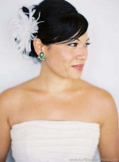 Feather Flower Hair Fascinator, 47% off | Recycled Bride - for the reception?