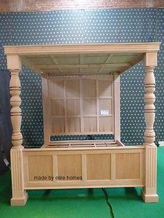 BESPOKE-Super-King-Size-6-carved-Mahogany-Four-4-Poster-TUDOR-canopy-bed Building Furniture, Teak Wood, Tudor, King Size, Canopy, Bespoke, Mattress, Carving, Bed