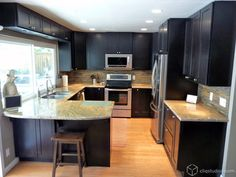 Rockford Birch Sable Shaker Kitchen Cabinets from CliqStudios.com