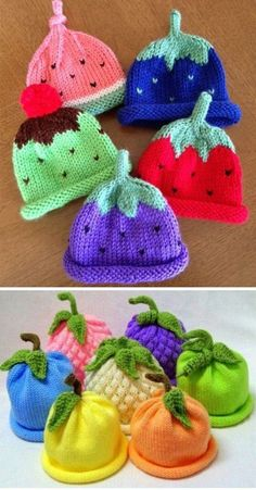 Caps for Babies - Free Knitting Pattern - Baby knitting patterns free - Knitted Doll Patterns, Baby Knitting Patterns, Free Knitting, Crochet Patterns, Knitting Squares, Pattern Sewing, Diy Knitting For Beginners, Easy Knitting Projects, Knitting Ideas