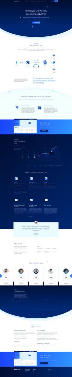 AtomicFund Landing Page