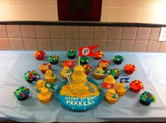 Sandcastle and Fish Cupcakes
