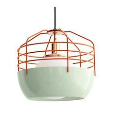 Bluff City Pendant Light – Design Within Reach - Mint, Coral, Industrial Modern