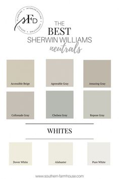 neutral paint colors from Southern Farmhouse Designs! Favorite neutral paint colors from Southern Farmhouse Designs! Favorite neutral paint colors from Southern Farmhouse Designs! Indoor Paint Colors, Nursery Paint Colors, Exterior Paint Colors, Paint Colors For Home, Wall Colors, Off White Paint Colors, Best Neutral Paint Colors, Best Greige Paint Color, Neutral Kitchen Colors