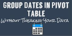 In this tutorial, You will learn How To Group Dates In Pivot Table to better…