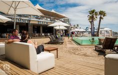 Valentine's Day at Shimmy Beach Club, Cape Town. Beach, cocktails, sea views and the Ibiza vibe in Cape Town. Beach Cocktails, Beach Club, Cape Town, Ibiza, Sun Lounger, Gazebo, Sea, Outdoor Decor, Chaise Longue